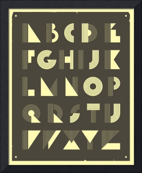 Retro Alphabet - Black