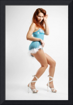 Girl dancing, side view