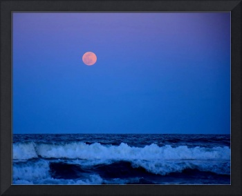Blue Moon and Waves 03300