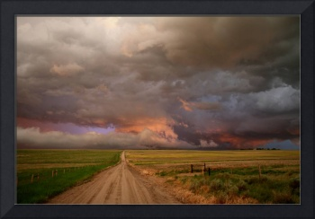 Stormy Wyoming Road
