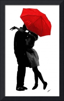 Kissing Under the Red Umbrella
