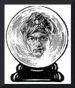 Wizard in Crystal Ball, 1930 illustration