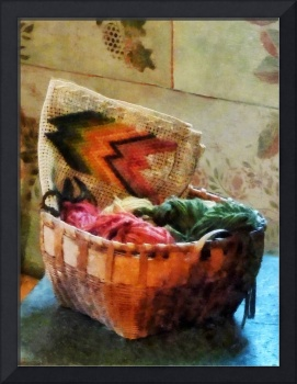 Basket Of Yarn And Tapestry