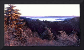 smokey mtns frosty morning panoramic  z