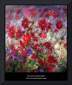 Mario Zampedroni's art poster (Red Flowers)