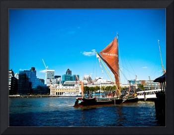 Vibrant London: Sailboat on the Thames