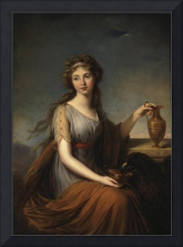 Portrait Of Anna Pitt As Hebe,  Elisabeth Louise V