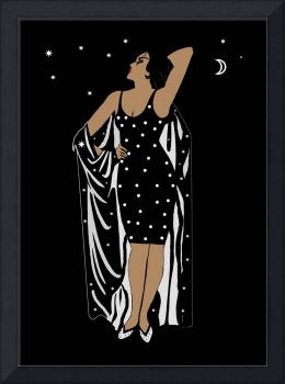 Poster Vintage Glamor Girl Black White
