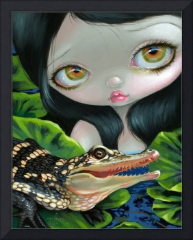 Mermaid with a Baby Alligator