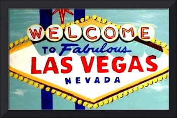 WORLD FAMOUS HAND PAINTED LAS VEGAS SIGN DAYTIME