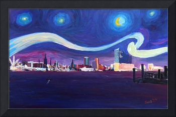Starry Night in Hamburg - Van Gogh Inspirations in
