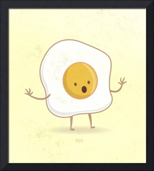 Fried egg texture signed 2015