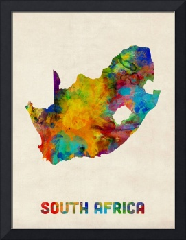 South Africa Watercolor Map