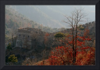 Autumn leaves at the Great Wall