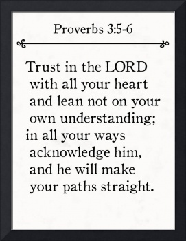 Proverbs 3:5-6- Bible Verse Wall Art Collection