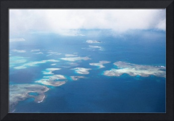 Tongan Islands from the air