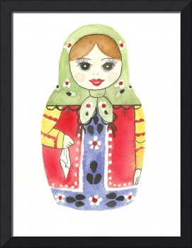 Russian Doll With Green Top