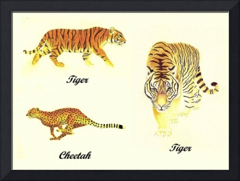 3 Big Cats Paintings