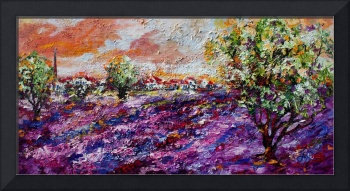 Impressionist Lavender Field Provence