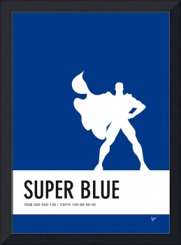 No23 My Minimal Color Code poster Superman