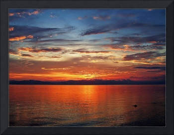 red sunset no. 18 – heavenly embers burning