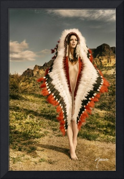 Adorned Feathered Nude 2714