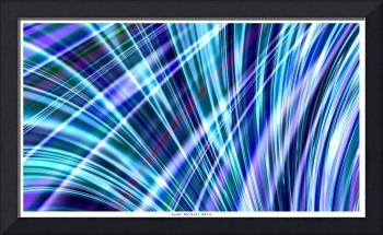 Color & Form Abstract - Blue Light Refraction