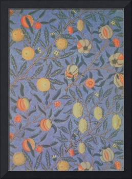'Blue Fruit' wallpaper design by William Morris