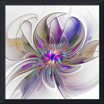 Energetic, Abstract Fractal Art