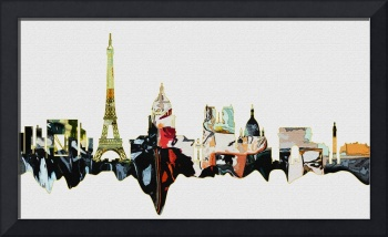 Paris Skyline Modern Art