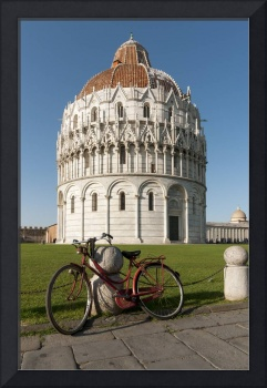 Bicycle and Baptistry of St. John, Pisa, Italy