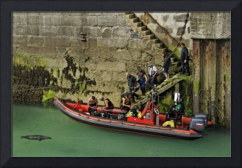 Boarding The Dive Boat, Newquay Harbour