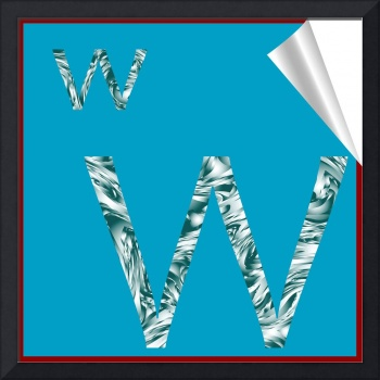 alphabet letter W sticker
