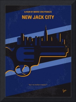 No762 My New Jack City minimal movie poster