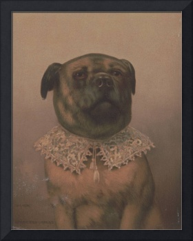 Vintage Sophisticated Dog Illustration (1878)
