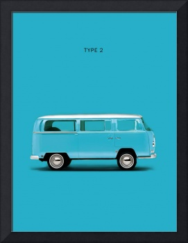 VW Type 2 In Sky Blue