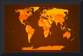 World Map Fall Colours