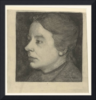 Portrait of Annie Mankes-Zernike, almost in profil