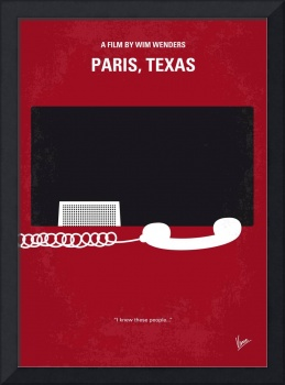 No062 My Paris Texas minimal movie poster