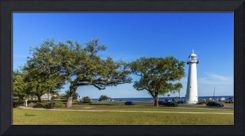 Gulf Coast Lighthouse Seascape Biloxi MS 3663b