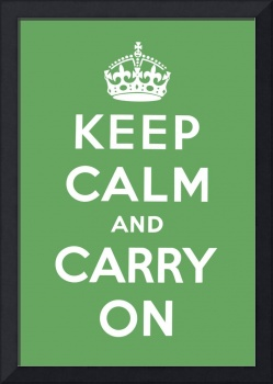 Green Keep Calm And Carry On 8