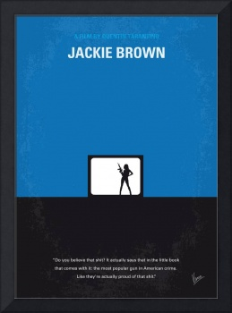 No044 My Jackie Brown minimal movie poster