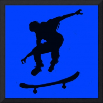 Skateboarder 3 . blue black  (c)