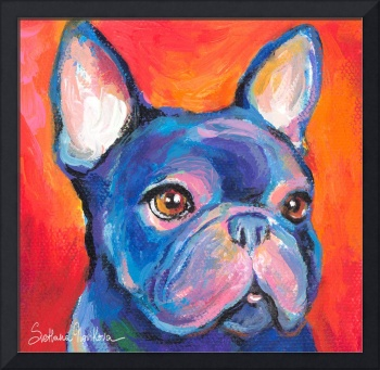French Bulldog portrait print