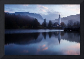 Morning at Lake Bohinj in Slovenia