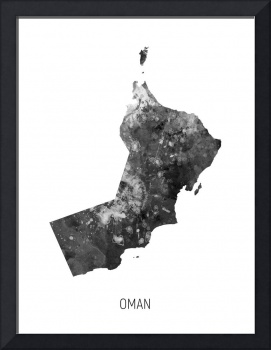 Oman Watercolor Map