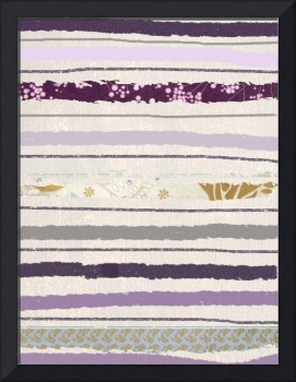 grey and purple striped canvas