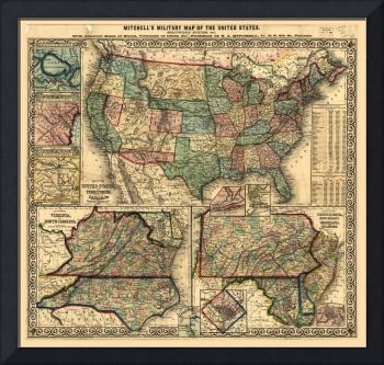 Mitchell's Military Map of the United States (1861