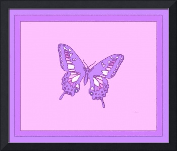 Violet Butterfly Salmon Background