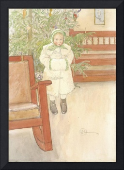 Carl Larsson~Girl and rocking chair